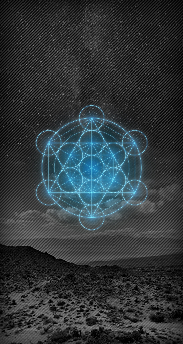 Metatrons-Cube-Blue-Desert-iOS-7-Wallpaper
